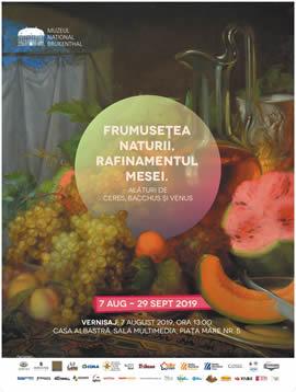 Expoziția: Frumusețea naturii, rafinamentul mesei. Alături de Ceres, Bacchus și Venus