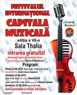 """Festivalul Internațional """"Capitala Muzicală"""", ediția a VII-a"""